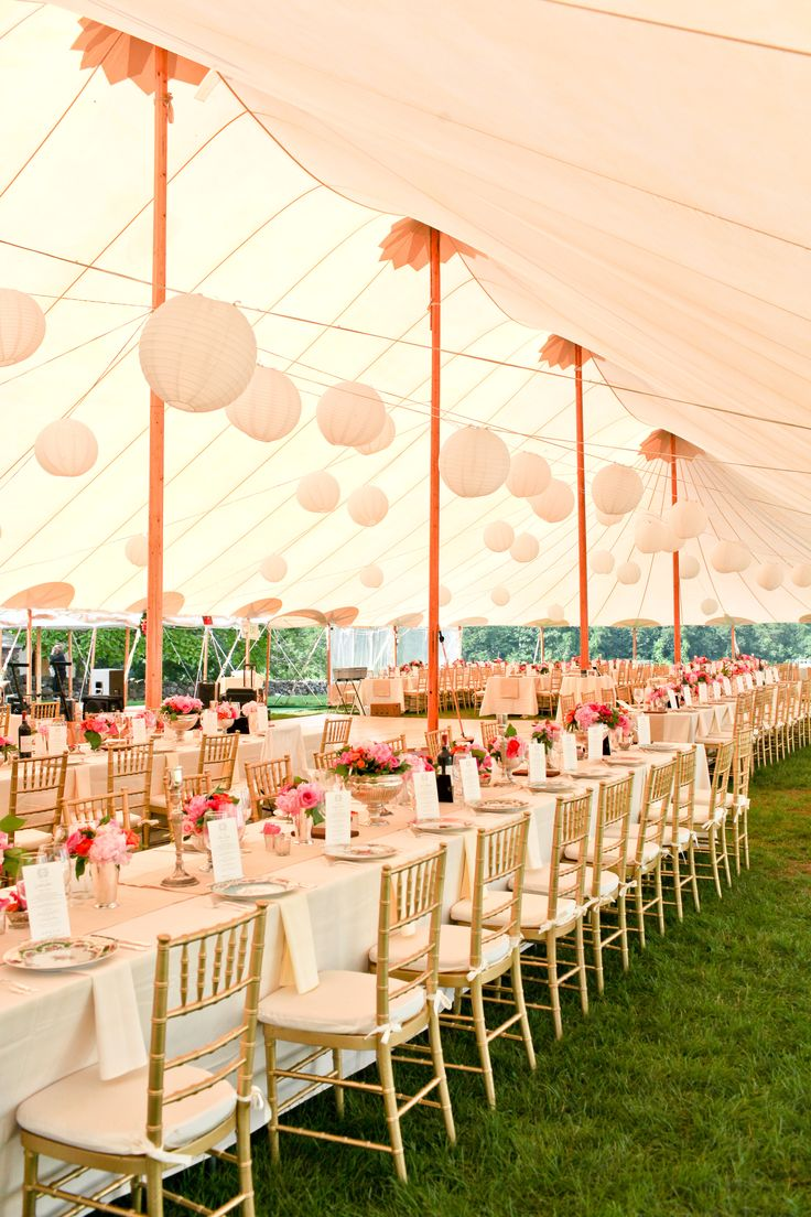 Beautiful Sperry Tent With Pretty Pink Styling And