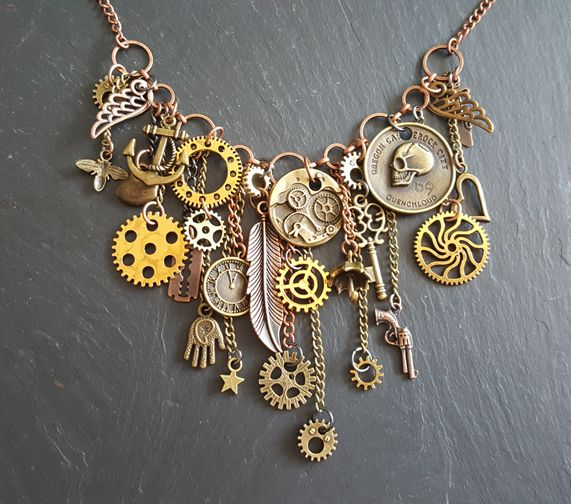Steampunk Chains And Charms Necklace, £25.00