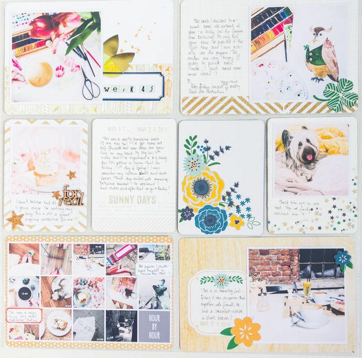 Collages.  I need to make more of these for my Month-In-Review page.