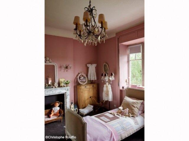 Chambre fille vieux rose classique chambre d 39 enfants for Belle chambre fille