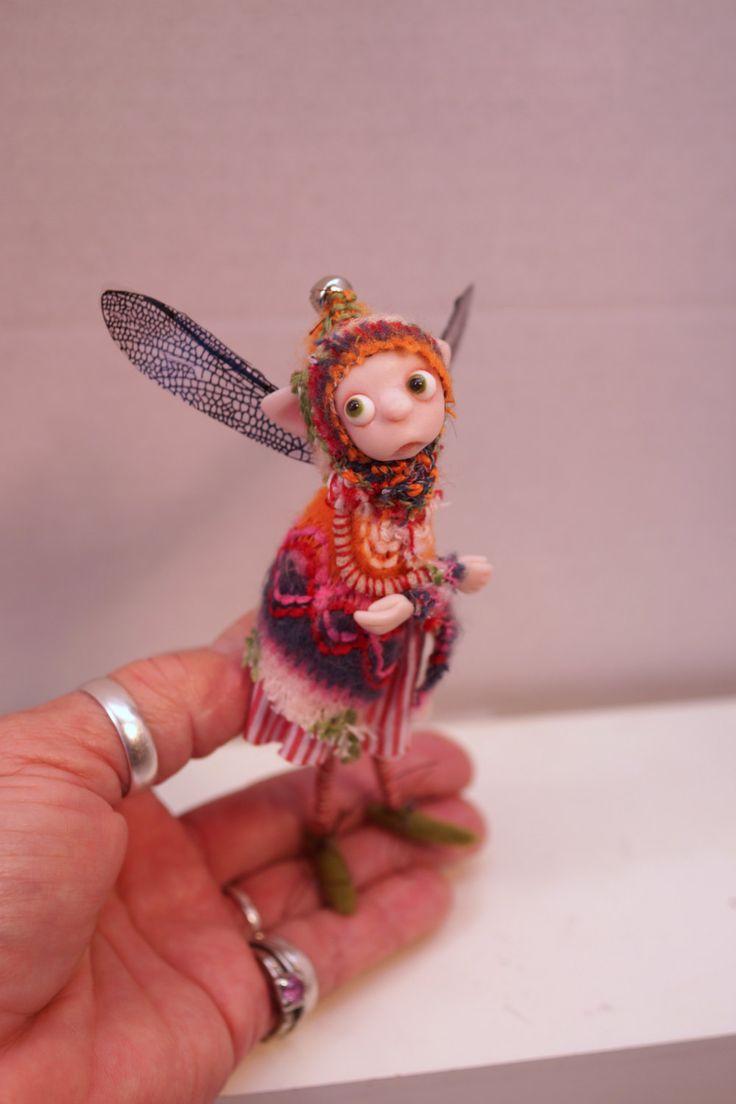 ooak poseable TINKER Woodland Fairy  ( 208 ) fairy elf pixie art doll by DinkyDarlings by DinkyDarlings on Etsy