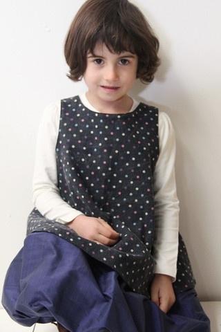 lj junior tunic polka dot children's dress