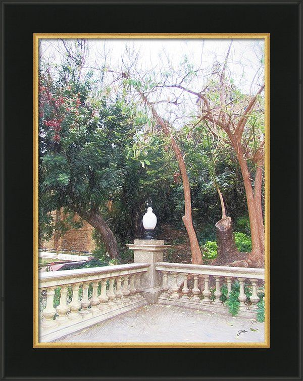 Barcelona Framed Print featuring the painting Barcelona, Autumn by Joaquin Abella