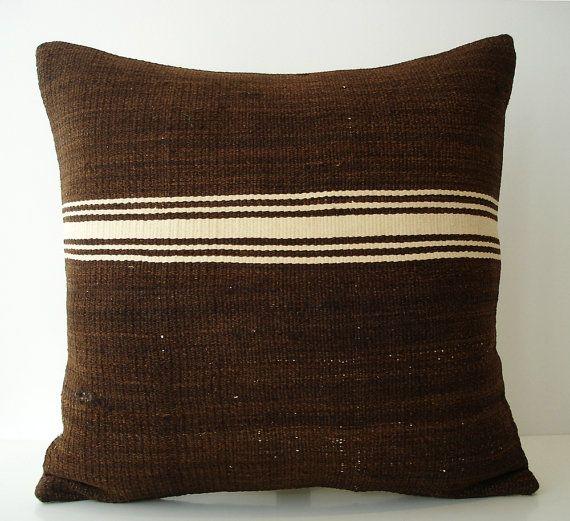 Sukan / Hand Woven - Turkish Kilim Pillow Cover -18x18 $89.95