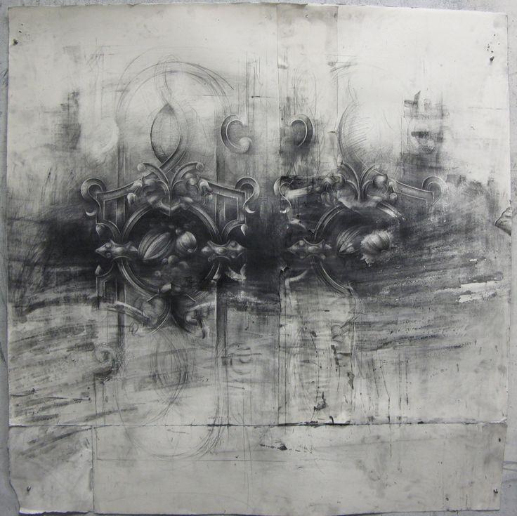 Matt Woodward - Surf Street 50x51 Graphite on Paper 2010