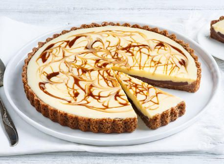 Caramel-Swirled White Chocolate Tart recipe | Dairy Goodness