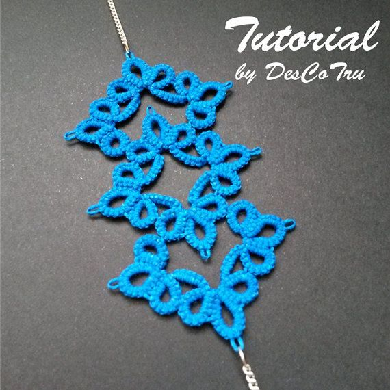 Tatting Bracelet Tutorial – Tatting Pattern - Frivolite - Make your own…