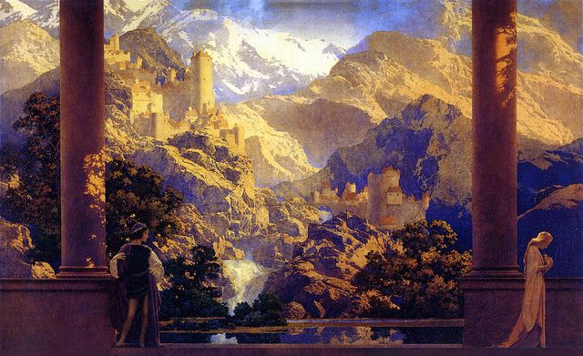"Maxfield Parrish, ""Romance,"" 1992, oil on board"