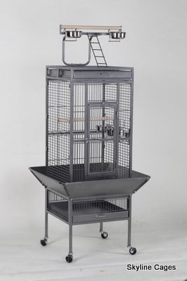 EDEN BIRD AND PARROT PLAY TOP CAGE: Includes 2 food water bowls in the cage and 2 on the play top. Seed catcher fitted as standard. Metal wire grill and tray 2 perches.  Click here for more information... http://shop.robharvey.com/eden-bird-and-parrot-play-top-cage-code-obcs24-1522-p.asp