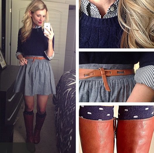 Stitch fix stylist: love this outfit. Fit and flare skirts are my favorite type of skirts