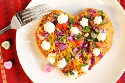 could make Valentine's Day quesadillas!