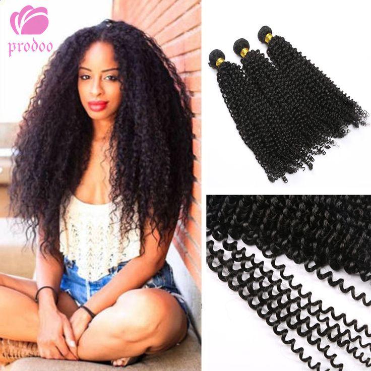 3 Bundles Brazilian Curly Virgin Hair Weave Weft 100% Human Hair Extensions 7A