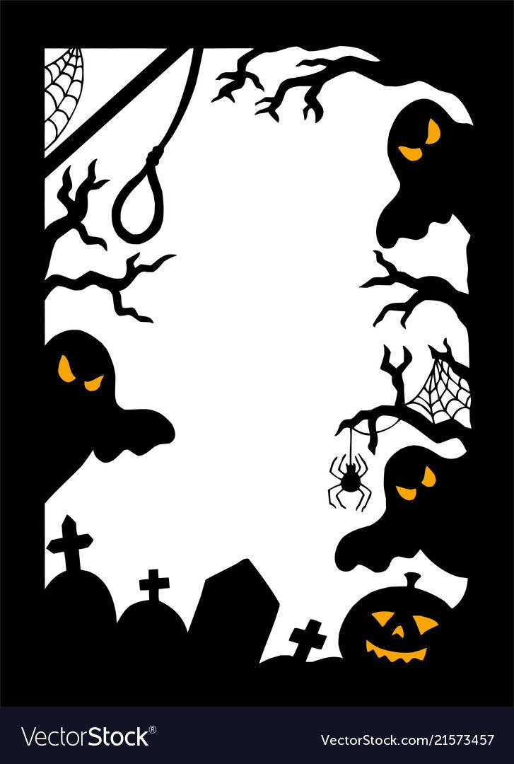 2020 Halloween Picture Frames Halloween silhouette frame vector image on VectorStock in 2020