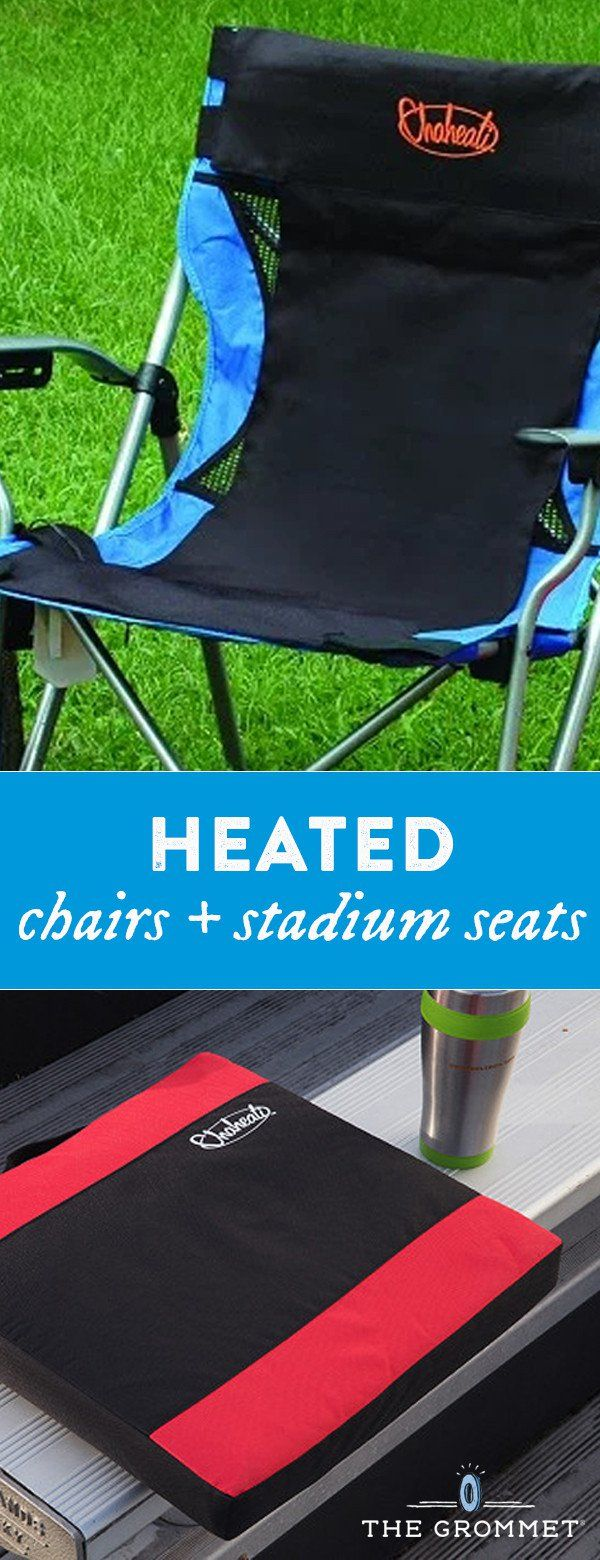 This heated seat pad, discovered by The Grommet, keeps you warm and comfortable outdoors, even in chilly weather.