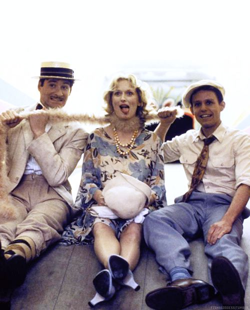 "Meryl Streep, Kevin Kline & Peter MacNicol - On the set of ""Sophie's Choice"" (1982)"