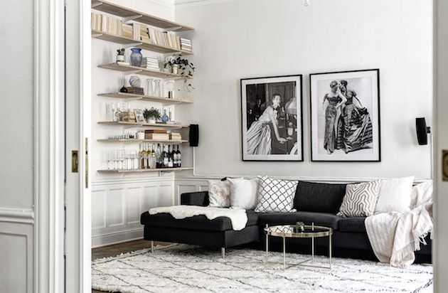 A Stockholm apartment with a touch of glam!