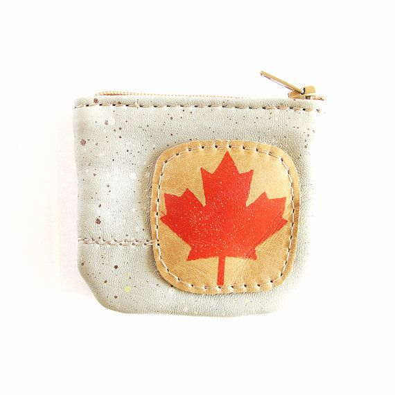 Canadian Teeny Leather Coin Purse by bonspielcreation on Etsy