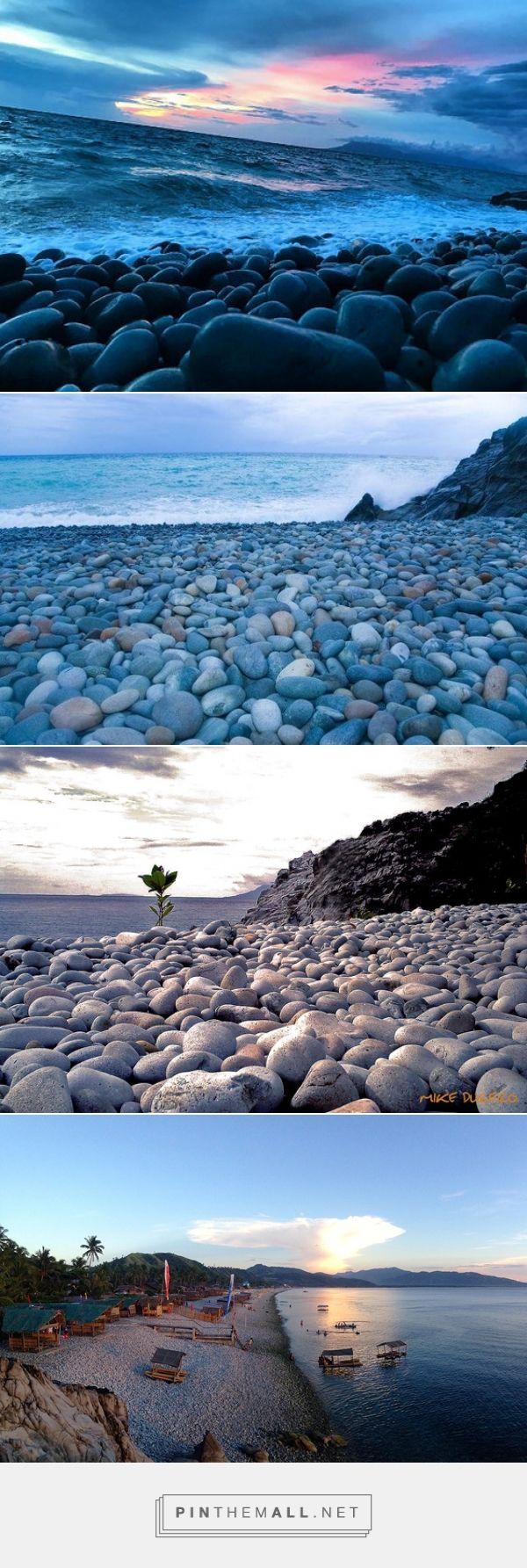 Pebble beaches-Surigao City, Surigao del Norte  Mabua Pebble Beach, a kilometer-long shore composed of smooth stones. The stones are mostly white, … | Pinteres… - created via https://pinthemall.net