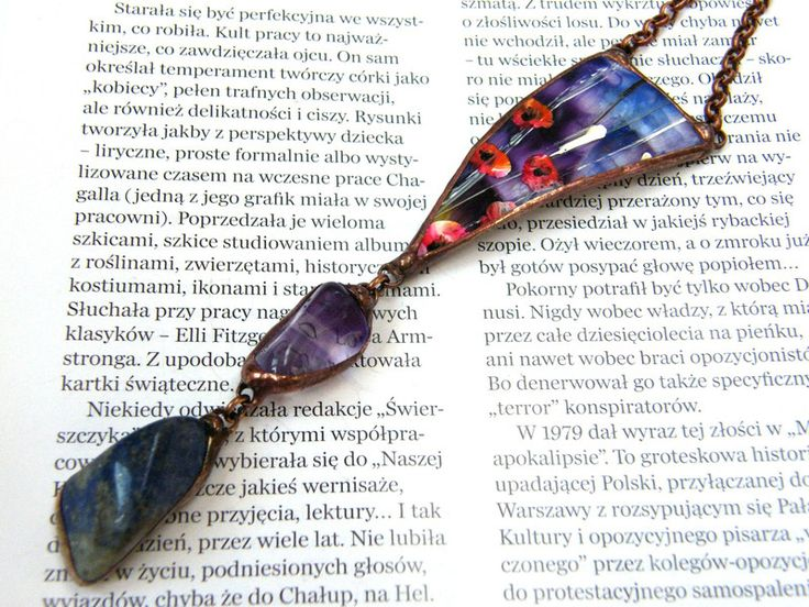 Long Necklaces – Pendant with chain: Mysterious purple garden – a unique product by Patrycja-Baran on DaWanda