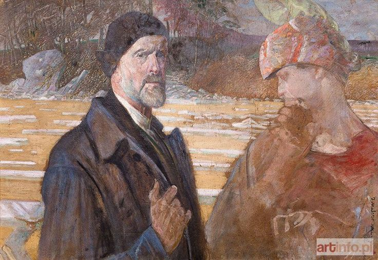 Jacek MALCZEWSKI ● Autoportret ze św. Agnieszką ●