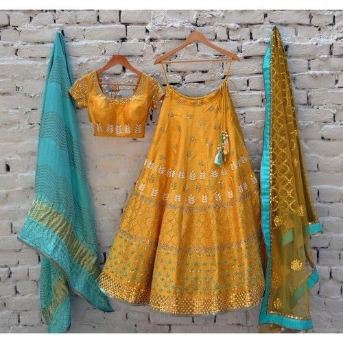 Buy Yellow Poly Silk Machine Work Semi Stitched Lehenga online in India at best price. Product Details Poly Silk Machine Work Yellow Semi Stitched Lehenga - AB72D Disclaimer : Color of th