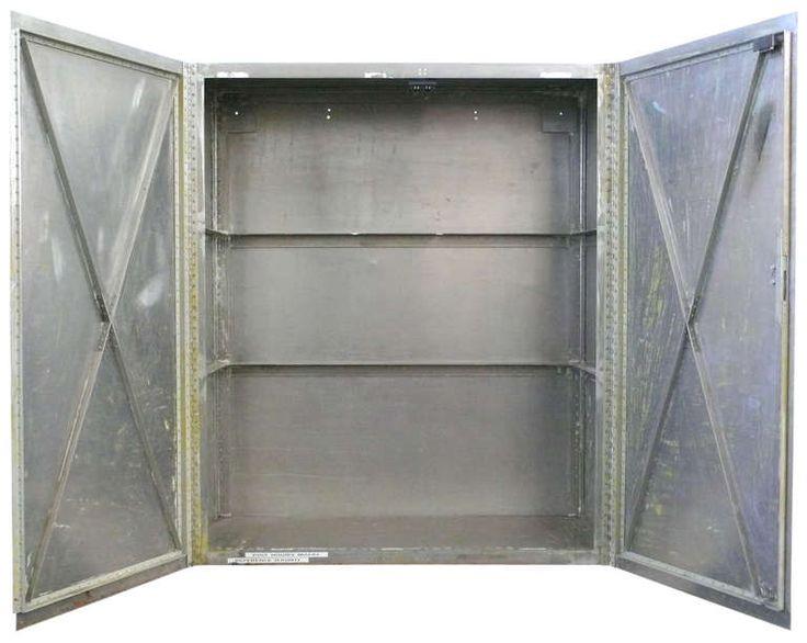 Custom-Made Hand-Riveted Aluminum Industrial Storage Cabinet