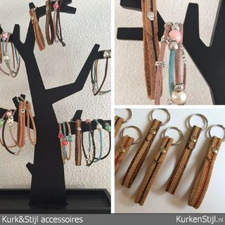 Enkelbandjes en sleutelhangers van kurk