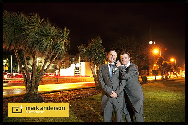 John and Jon, Brisbane House Hotel, Largs. I love how this image looks like Miami beach In summer and not Largs In winter.