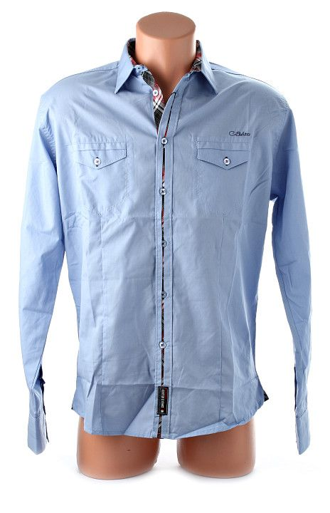 Elegantná bledomodrá pánska košeľa s dlhým rukávom od renomovanej odevnej značky Carlo Bellucci. Vhodná na menej formálne príležitosti, veľmi príjemná na nosenie. http://www.yolo.sk/panske-kosele-dlhy-rukav/kosela-carlo-bellucci-belasa