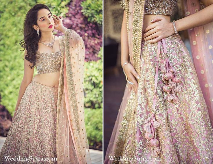 Bridal details - Sabyasachi lehenga at WeddingSutra on Location #weddingsutra #bridallehenga #lehenga #Indianbride #Indianoutfit #bridallook #weddingideas #pink #gold #sabyasachi