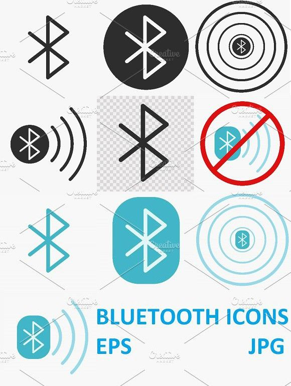 Bluetooth Vector Icons Vector Icons Icon Flat Illustration