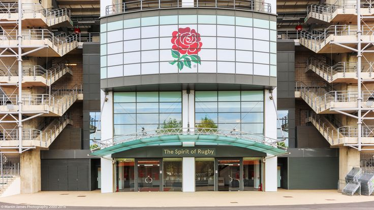 Entrance to the West Stand and The Spirit of Rugby   Photo Credit: Martin James