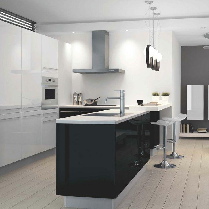 les 27 meilleures images du tableau cuisine sur pinterest cuisine blanche cuisine moderne et. Black Bedroom Furniture Sets. Home Design Ideas