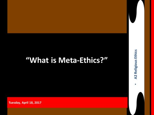 Meta Ethics Lesson - an introduction