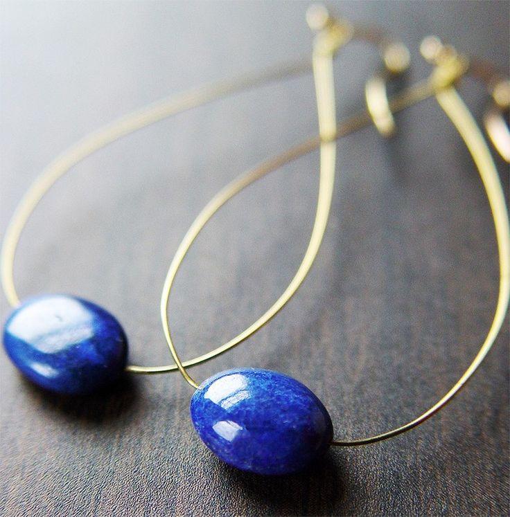 Lapis Blue Teardrop Earrings