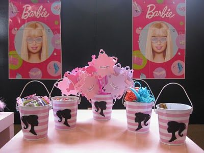 pink barbie party [a 5th birthday party]: Theme Birthday Parties, Little Girls, Barbie Theme, Girls Birthday Parties, Parties Favors, Barbie Parties, Parties Ideas, 5Th Birthday Parties, Birthday Ideas