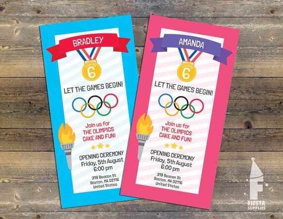Olympics Birthday Invite Let the Games Begin par FiestaSupplies