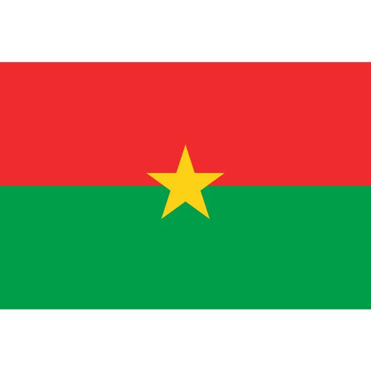Tafelvlaggen Burkina Faso 10x15cm | Burkinese tafelvlag De vlag van Burkina Faso bestaat uit twee gelijke horizontale banden in de kleuren rood (boven) en groen met in het midden een gele vijfpuntige ster. Burkina Faso gebruikt deze vlag sinds 4 augustus 1984. De kleuren groen, rood en geel zijn de Pan-Afrikaanse kleuren