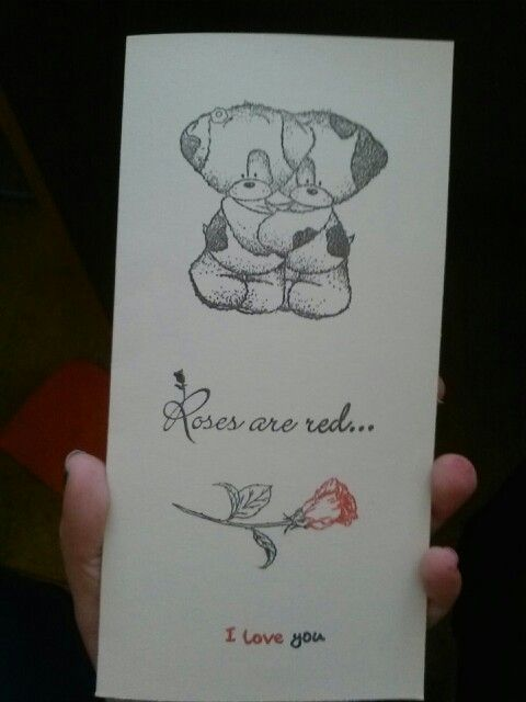 My valentine card