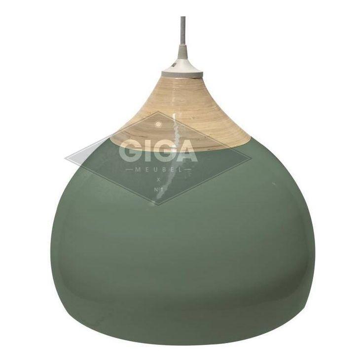 Leitmotiv Lamp Glazed Bamboo Jungle Green Small