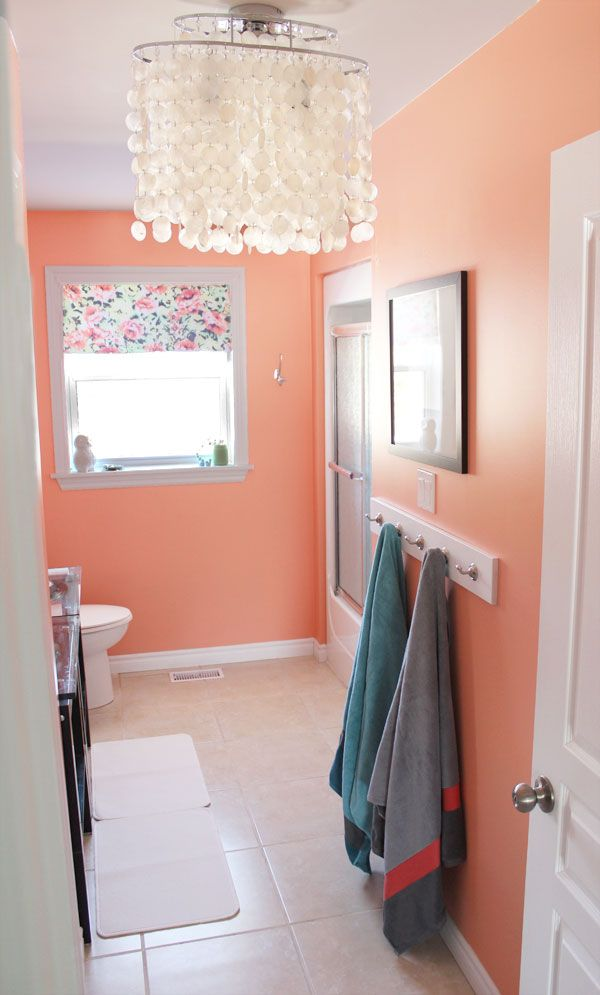 25 best ideas about coral bathroom on pinterest coral for Bathroom ideas paint colors