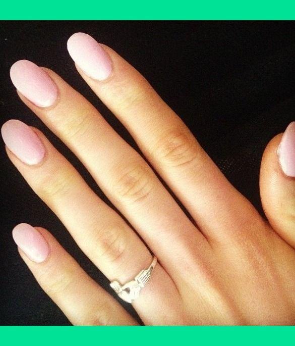 Pale pink oval nails   Stephanie K.'s (kennedy) Photo   Beautylish