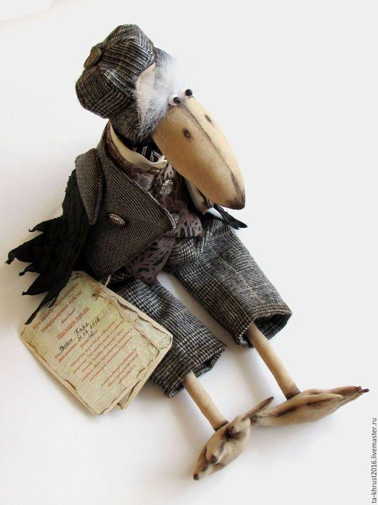 Игрушки животные, ручной работы. Ярмарка Мастеров - ручная работа. Купить ворон.интерьерная игрушка. Handmade. Черный, ворона