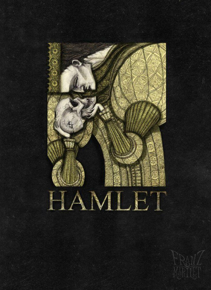 #bookcover #bookillustration #hamlet #shakespeare #skull #tobeornottobe #williamshakespeare #franz_martlet