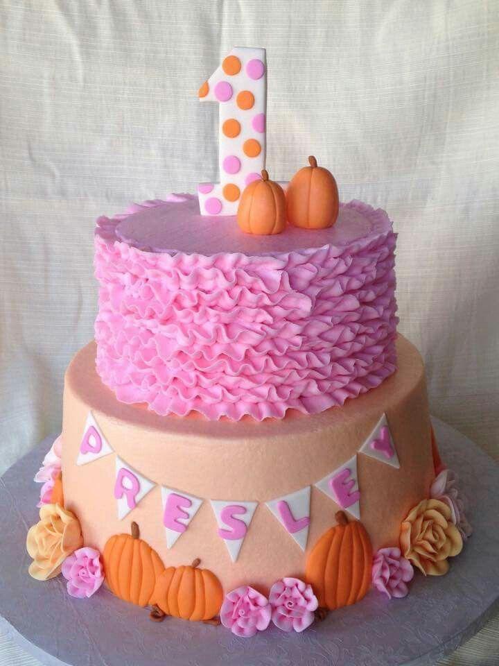 My Little Pumpkin Cake First Birthday