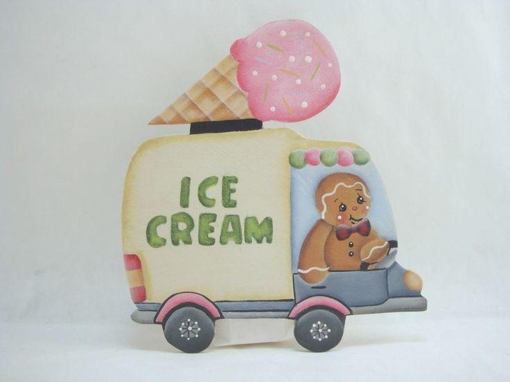 HP Gingerbread Fridge Magnet - We all Scream for Ice Cream!