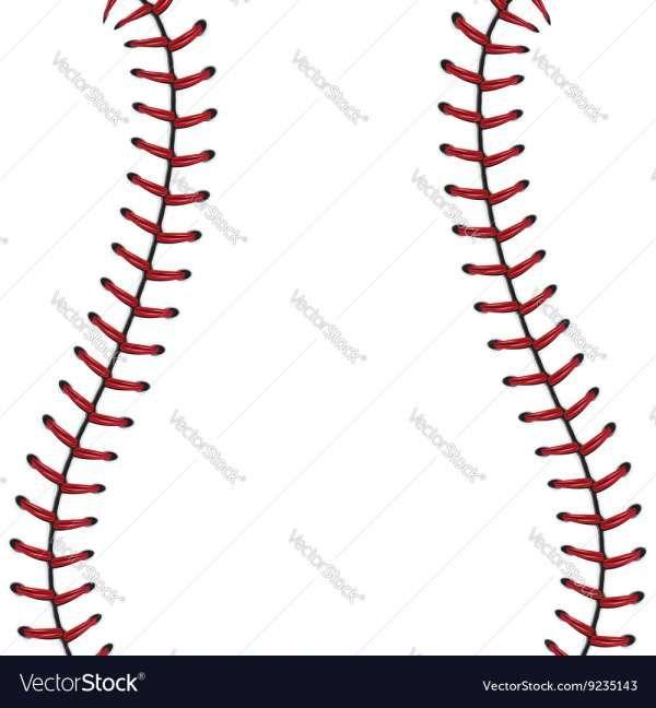 17 Baseball Laces Vector Lace Background Baseball Stitch Lace