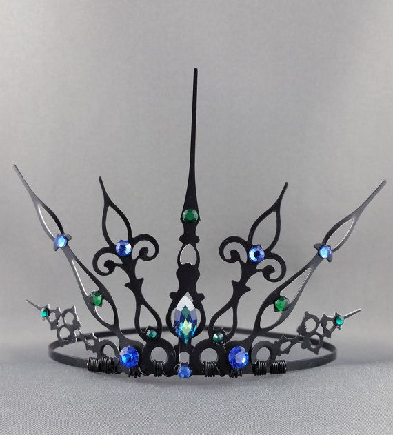 Peacock Gothique Gothic Crown Gothic Tiara Mermaid by angelyques