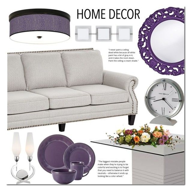 """""""Purple & GRay home decor"""" by mada-malureanu ❤ liked on Polyvore featuring interior, interiors, interior design, home, home decor, interior decorating, Howard Elliott, Stacy Garcia, Rachael Ray and Besa Lighting"""