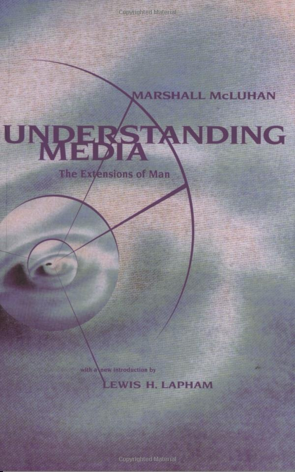 """McLuhan's most widely known work, Understanding Media: The Extensions of Man (1964), is a pioneering study in media theory. Dismayed by the way people approached and used new media such as television, McLuhan famously argued that in the modern world """"we live mythically and integrally ... but continue to think in the old, fragmented space and time patterns of the pre-electric age.""""Worth Reading, Bookie Wookie, Marshalls Mcluhan, Subliminal Messages, Book Worth, Understand Media, Extensions, Reading Room, Media Theory"""